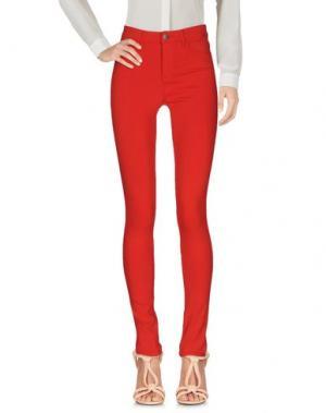 Повседневные брюки PIECES. Цвет: красный