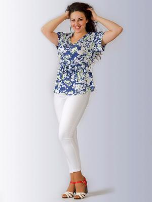Блузка Лагуна. Цвет: голубой