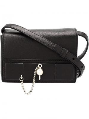 Мини сумка через плечо Anthony Vaccarello. Цвет: чёрный