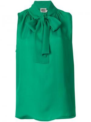 Купить Зеленую Блузку С Бантом