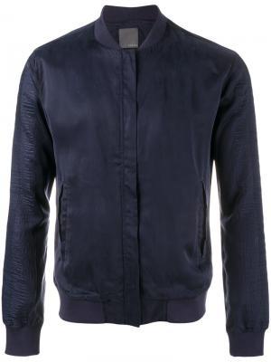 Куртка-бомбер на молнии Lot78. Цвет: синий