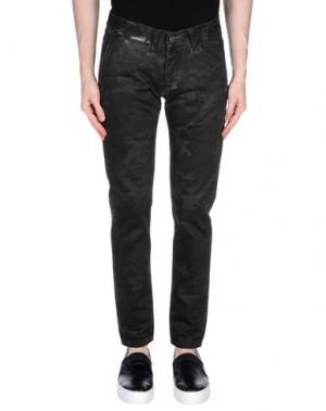 Повседневные брюки 2 MEN. Цвет: стальной серый