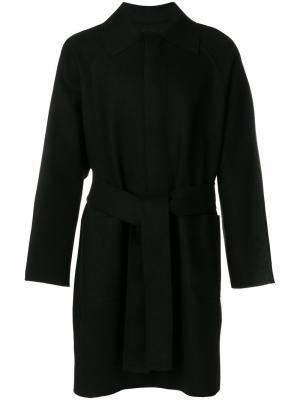 Пальто с поясом Ann Demeulemeester Grise. Цвет: чёрный