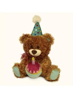 Мягкая игрушка Медведь Праздничный Malvina. Цвет: коричневый