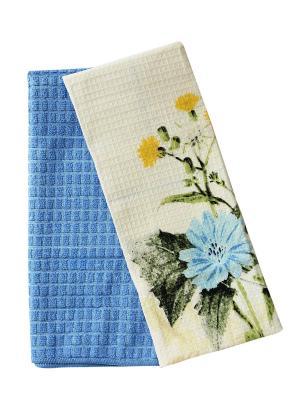 Набор кухонных полотенец Dream time. Цвет: серо-голубой, голубой, кремовый