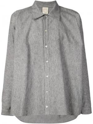 Рубашка в тонкую полоску Jan Van Essche. Цвет: серый