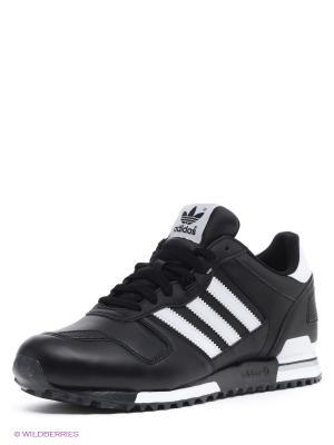 Кроссовки ZX 700 Adidas. Цвет: черный, белый