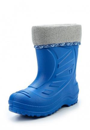 Резиновые сапоги Котофей. Цвет: голубой
