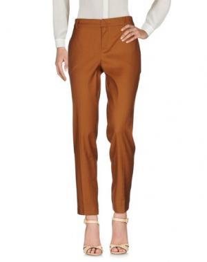 Повседневные брюки SET. Цвет: коричневый