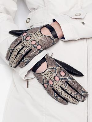 Перчатки Eleganse. Цвет: серо-зеленый, черный