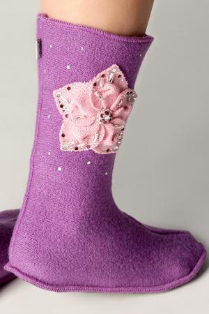Носожки женские ILTANI design. Цвет: фиолетовый