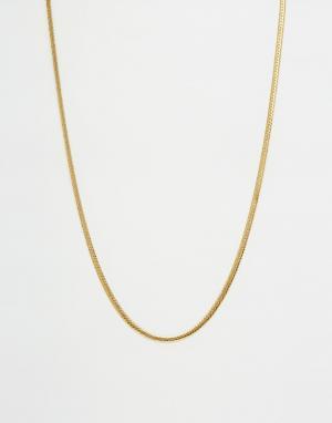 MISTER Ожерелье-цепочка. Цвет: золотой