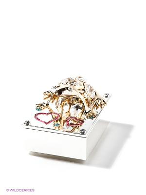 Шкатулка Лягушка Юнион. Цвет: золотистый, прозрачный
