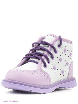 Ботинки Mursu. Цвет: белый, сиреневый