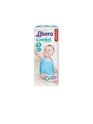 Libero Подгузники детские Комфорт макси 7-14кг 60шт упаковка мега. Цвет: белый
