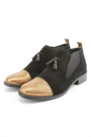 Ботинки Bouton. Цвет: черный, золотой
