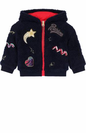 Спортивный кардиган с капюшоном и аппликациями Marc Jacobs. Цвет: синий