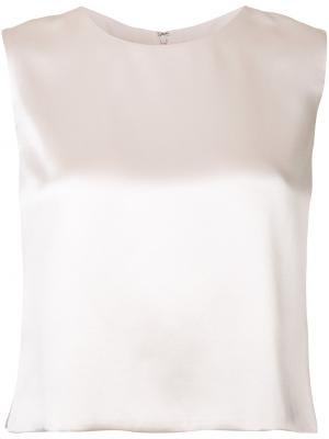 Cropped blouse Brandon Maxwell. Цвет: розовый и фиолетовый