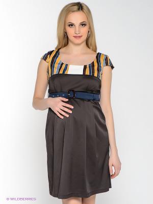 Платье UNIOSTAR. Цвет: коричневый