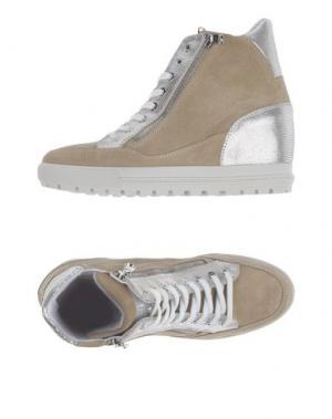 Высокие кеды и кроссовки D'ACQUASPARTA. Цвет: бежевый