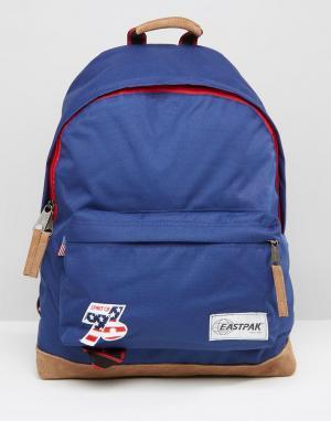Eastpak Синий рюкзак в винтажном стиле Wyoming. Цвет: синий