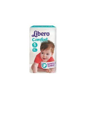 Libero Подгузники детские Комфорт макси плюс 10-16кг 18шт упаковка маленькая. Цвет: белый