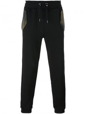 Спортивные брюки c контрастными карманами Hydrogen. Цвет: чёрный