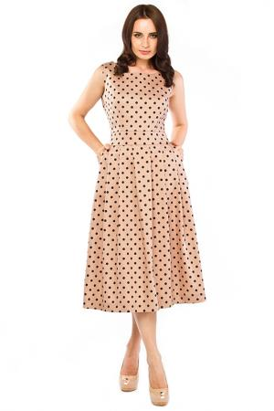 Платье Sarafan. Цвет: капучино