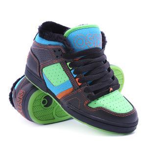 Кеды кроссовки утепленные  South Bronx Blue/Green/Shearling Osiris. Цвет: черный,голубой,зеленый
