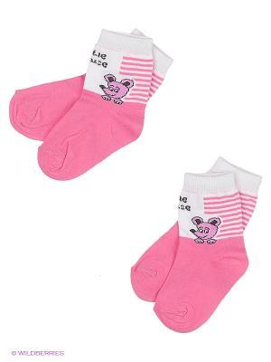 Носки, 2 шт Хох. Цвет: розовый