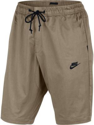 Шорты M NSW MDRN SHORT WVN V442 Nike. Цвет: коричневый