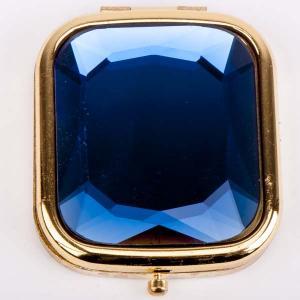 Зеркальце Красотка металл, пластик, арт. МР-155 Бусики-Колечки. Цвет: синий