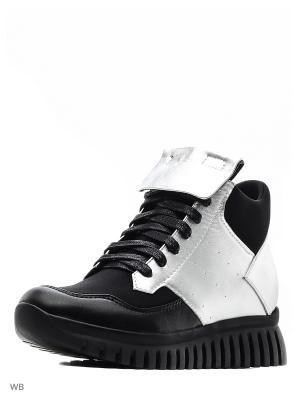 Ботинки NURIA. Цвет: серебристый, черный