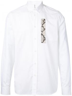 Рубашка с отделкой эффектом змеиной кожи Oamc. Цвет: белый