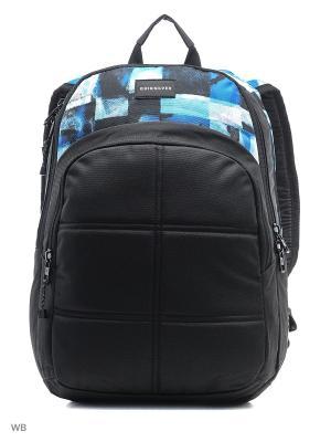 Рюкзак Quiksilver. Цвет: черный, белый, голубой