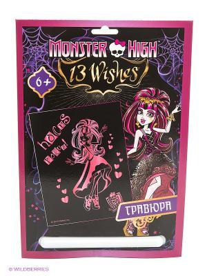 Гравюра Monster High Дракулаура Centrum. Цвет: розовый