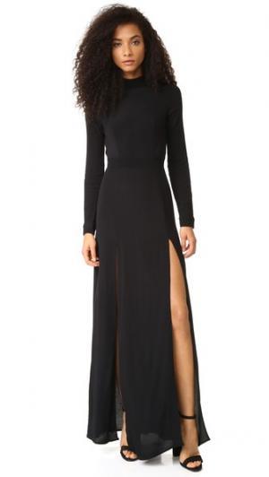Макси-платье Cedar Flynn Skye. Цвет: голубой