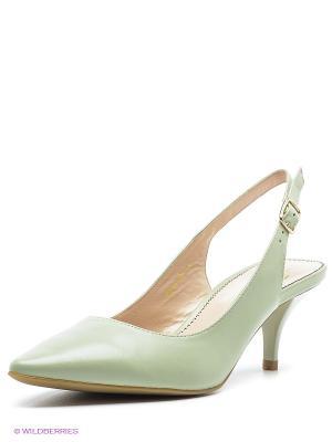 Туфли Moda Donna. Цвет: оливковый