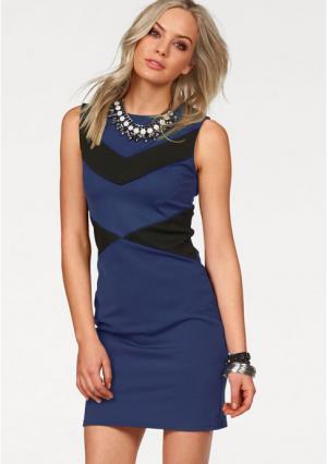 Платье MELROSE. Цвет: королевский синий/черный