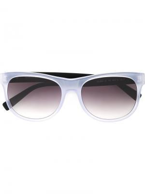 Солнцезащитные очки в круглой оправе Cerruti 1881. Цвет: белый