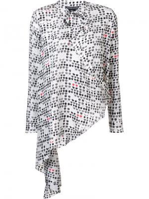 Шелковая блузка  Stash Thomas Wylde. Цвет: белый