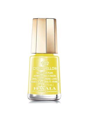 Лак для ногтей тон 102 Cyber Yellow Mavala. Цвет: желтый