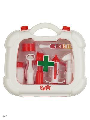 Набор доктора в чемоданчике Smart HTI. Цвет: прозрачный, красный, белый