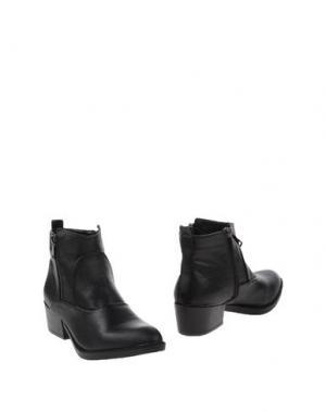 Полусапоги и высокие ботинки FRANCESCO MILANO. Цвет: черный