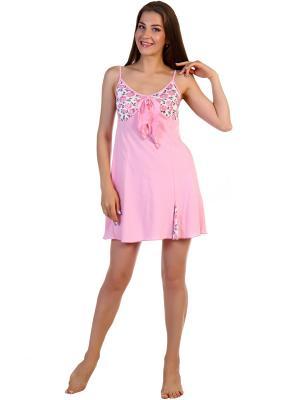 Ночная сорочка Соцветие Vilana. Цвет: розовый