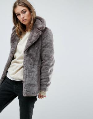 Unreal Fur Шуба из искусственного меха. Цвет: серый