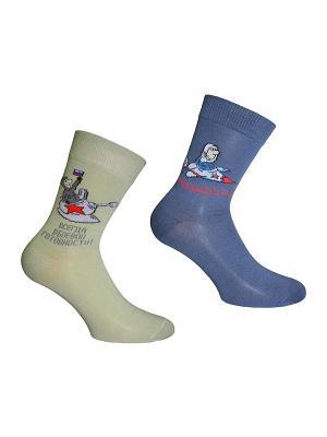 Носки 2 пары Master Socks. Цвет: синий, оливковый