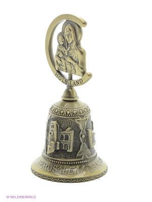 Колокольчик с ликом Иерусалимской Божьей Матери Bethlehem Star. Цвет: бронзовый