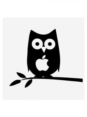 Наклейка для Macbook Air / Pro Owl (15 дюймов (диагональ экрана)) Kawaii Factory. Цвет: черный