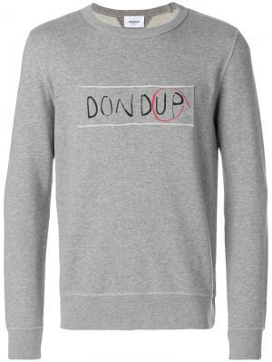 Толстовка с логотипом Dondup. Цвет: серый